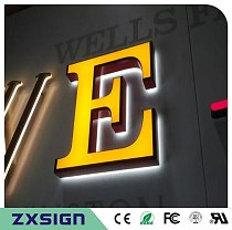 Outdoor waterproof double sided lighted business signs, frontlit & backlit LED channel letters for store  logo name