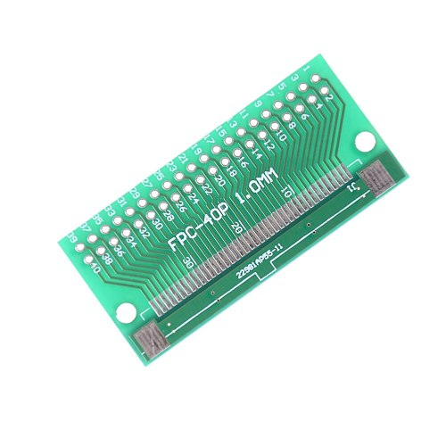 1pcs Socket Plate PCB Board Connector Double Side 0.5mm FFC FPC To 40P DIP 2.54mm PCB Converter Board Adapter