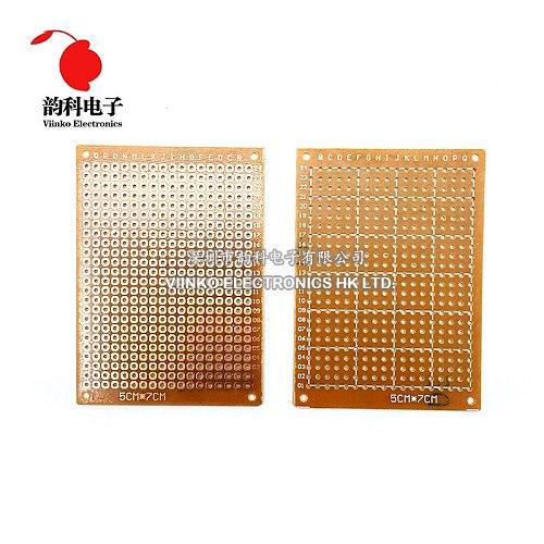 5Pcs 5x7cm 5*7 new Prototype Paper Copper PCB Universal Experiment Matrix Circuit Board