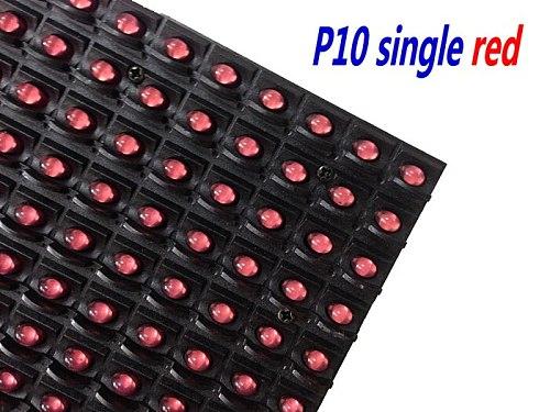 kaler 320*160mm 32*16pixel Outdoor high brightness Red P10 LED module for Single color LED display Scrolling message led sign
