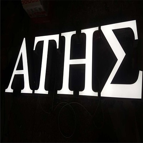 Factory Outlet Outdoor Acrylic LED sign board letters, letreiro de led