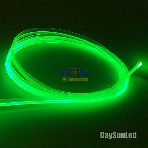 Side Glow Fiber Optic Cable with Skirt Diameter 3mm 1 Meter Easy-Mount Car Interior Light