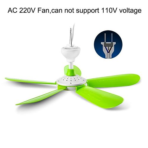 AC 220V 7W 5 Leaves Mini Silent Household Dormitory Bed Electric Hanging Fan Ceiling Fan Energy Saving Cooling Fan