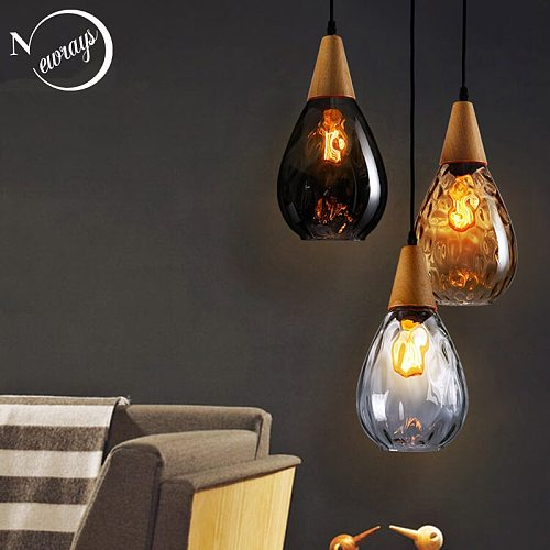 Modern novelty art deco glass pendant light LED E27 with 3 colors for bedroom/restaurant/living room/dining room/cafe/hotel/bar