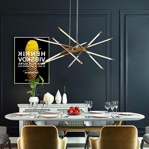 Nordic LED Chandelier Lamps for Home Living Room Dining Bedroom  Decoration Modern Golden Loft Villa Hanging LED Lights Lighting