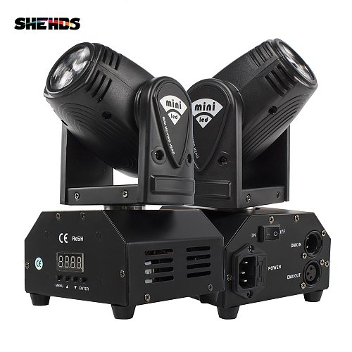 2PCS Mini 10W Beam Moving Head Light RGBW 4in1 For Party Disco DMX Stage Effect Proffectional Event Sound Mode Music SHEHDS