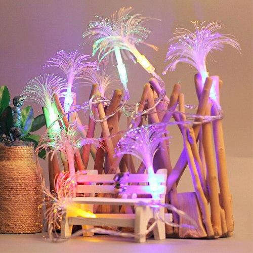 Atmosphere String Light Gift Crystal Party Led Night Flower Shape Living Room Romantic Holiday Wedding Optic Fiber Children