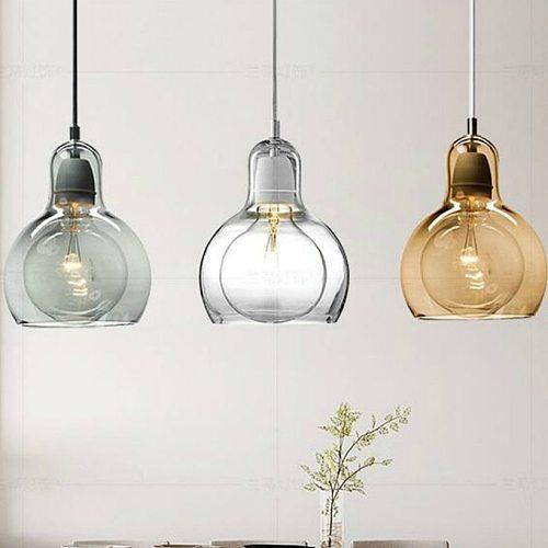 Simple Glass Dining Room Pendant Light Flower Shop Glass Pendant Lamp Decorative Home Light Kitchen Lighting Fixture Glass