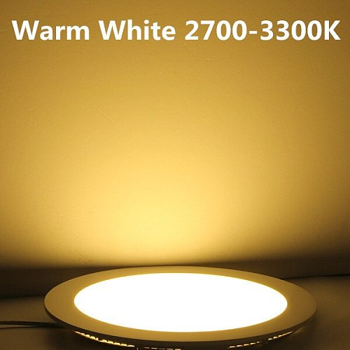 Free shipping 3W-25W Warm White/Natural White/Cold White LED ceiling recessed grid downlight / slim round panel light + drive