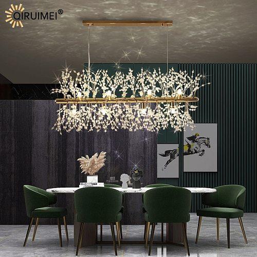 Gold Creative New Modern Deco LED Pendant Lights Bedroom Living Dining Room Salon Bar Hall Stainless Steel Crystal Lamp Lighting