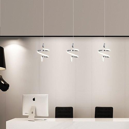 Gold chrome plating led pendant lights modern design for Restaurant Pendant lights Bedroom kitchen Hanging lamp indoor lighting