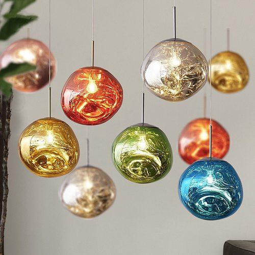 Modern Novelty Art Deco Glass Pendant Light LED E27 tom Lava Ball Lamp For Living Room Bedroom Restaurant Kitchen Cafe Hotel