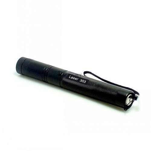 Tinhofire Top Laser 303 Green Laser Pointer Adjustable Focal Length Laser Pen 5mW Laser Flashlight with Star Pattern Filter