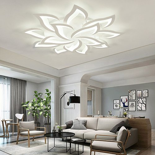 LED Chandelier for Living Room Modern Chandeliers Minimalist Led Lights for Room Acrylic Indoor Lighting Chandeliers Ceiling
