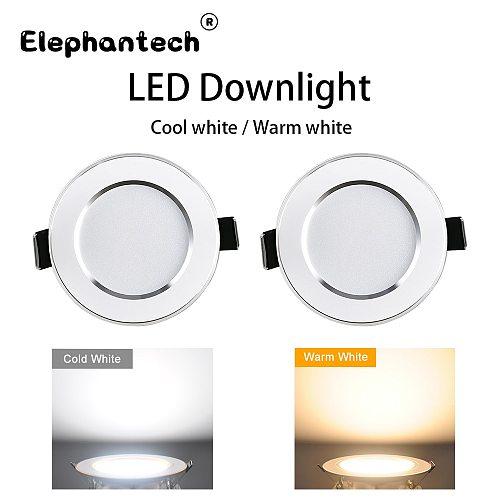 LED downlight 3W 5W 7W 9W 12W 15W round recessed lamp 220V 176V~264V LED bulb bedroom kitchen indoor LED spotlight