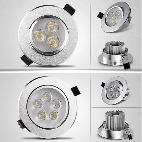 LED round Dimmable Led downlight light Ceiling Spot Light 6w 9w 12w 15w 21w AC110-220V ceiling recessed Lights Indoor Lighting