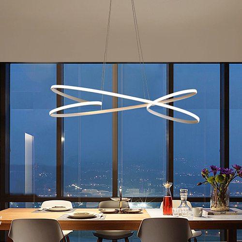 Modern Led pendant lights for dining room kitchen room bar shop black or white color led pendant lamp free shipping