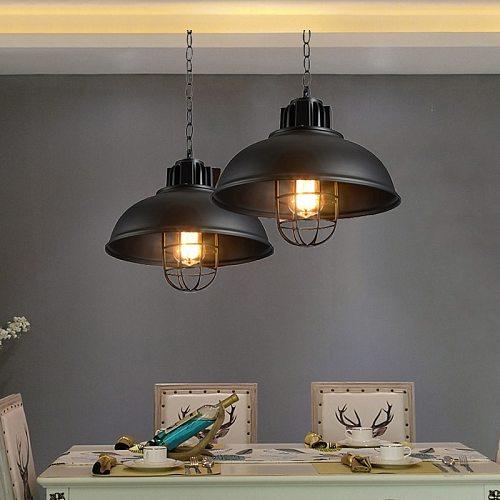 Vintage loft pendant lamp retro droplight,dining room aisle bedroom pub cafe restaurant cage hanging chandelier light fixtures