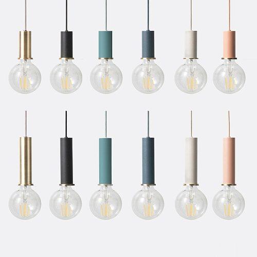 Nordic DIY creative collocation pendant lamps, E27 lamp holder Short  Long aluminum tube pendant lights