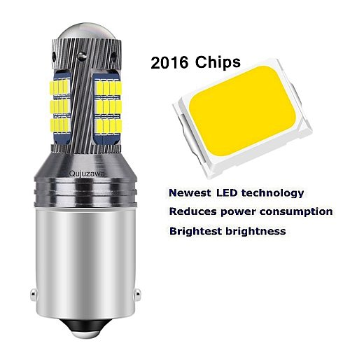 2pcs New 1156 BA15S 7506 P21W R10W Super Bright 2016 LED Car Tail Brake Bulb Turn Signals Auto Backup Reverse Lamps DRL Light