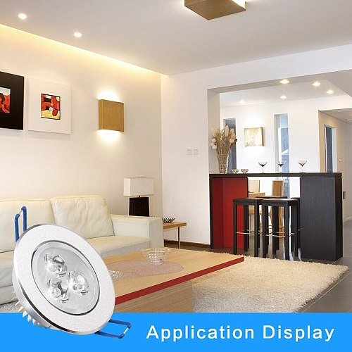 10pcs/lot LED Spot LED Downlight Dimmable Bright Recessed 9W LED Spot light decoration Ceiling Lamp AC 110V 220V AC85-26V z30