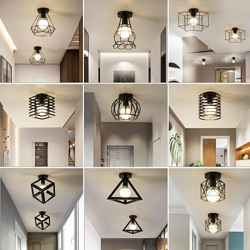Iron aisle ceiling lights minimalist nordic vintage balcony,kitchen ceiling lamp foyer iron entrance small ceiling lights