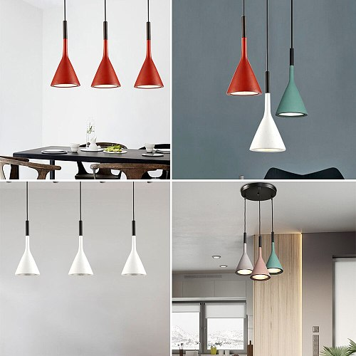 Nordic Pendant Lights Modern Hanging Lamps Minimalist Simple Light Multicolor Lamp For Kitchen Dining Room Bedroom Coffee Bar