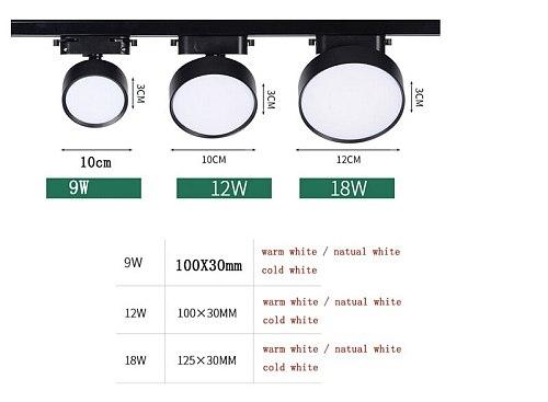 Led COB Track light aluminum 9w 12W 18W Ceiling Rail Track lighting Spot on Rail Spotlights Replace Halogen Lamps AC220V