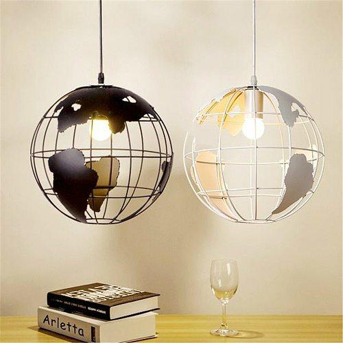 Nordic Earth Pendant Lighting Restaurant Hanglamp Industrial Lamp Globe Decor Living Room Kids Home Pendant Light Lustre Fixture