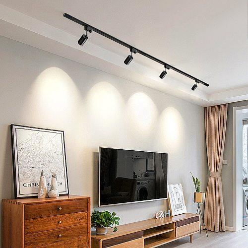 Hartisan Led Track Light Spots Living Room Bedroom Ceiling Lamp GU10 5W 220V Spot Lights Aluminum Adjustable Kitchen Lighting
