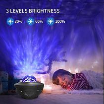 Led Spot Light Ocean Wave Projector Night Light Garden Lawn Backyard Gazebo Galaxy Night Lamp Blueteeth USB Music Player Gifts