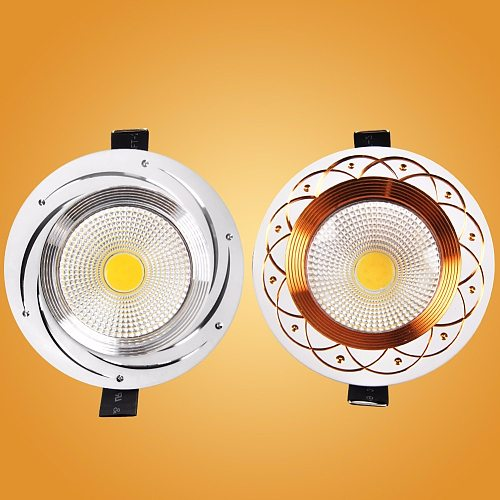 LED Downlight Recessed Ceiling Down light led COB Spot Light 110V 220v 5W 7W 9W 12W Dimmable Bedroom Indoor LED Downlight Bulb