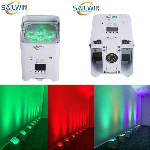 EU STOCK Sailwin Stage Light 6x18W 6in1 RGBAW UV Mobile APP Battery LED Par Light Smart Par Projector For Wedding Party UPLIGHT