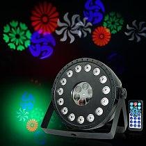 RGB 15 LEDs+Pattern Projector Par Light Flat Par Light LED Stage Wash/Pattern 2in1 Par Light