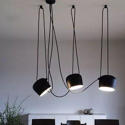 Modern Drum Pendant Lamp Ceiling LED Hanglamp Spider Industrial Pendant Lights for Restaurant Kitchen Nordic loft light Fixtures
