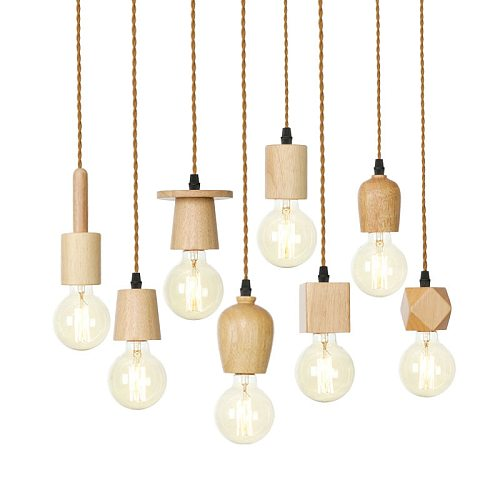 Nodric Wooden Pendant Light Modern Hanging Lamp for Living room Kitchen home lighting Decor Luminaire Solid Wood Pendant Lamps