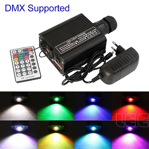 DMX 16W RGBW LED plastic Fiber Optic Star Ceiling Kit Lights 200pcs 0.75mm 2M optical fiber lighting with 28key RF Remote