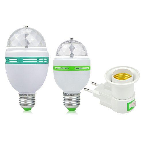 E27 LED RGB Bulb 6W 9W 110V 220V Colorful Auto Rotating projector Crystal led Stage Light Magic Ball DJ party disco effect Lamp