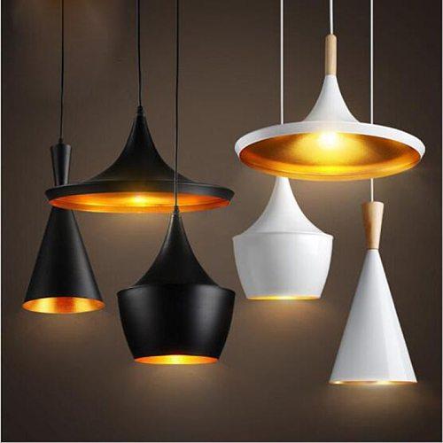 Industrial Vintage Black Pendant Lights Retro Kitchen Dining Room Lamparas Colgantes Luminaire E27 Home lamp Lighting Fixtures