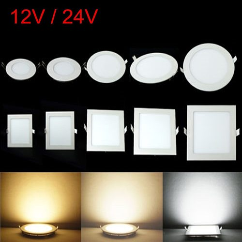 3W 4W 6W 9W 12W 15W 25W Round/Square LED Panel light Recessed Spot Ceiling Down Light Warm/Natural/Cold White 12V 24V + Driver