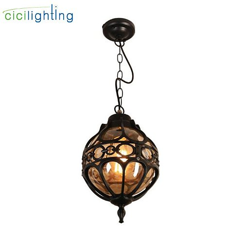 Vintage Outdoor Pendant Lights for Courtyard Garden Balcony Retro Europe Style Ceiling Pendant Lamp Yard Pathway Landscape Lamp