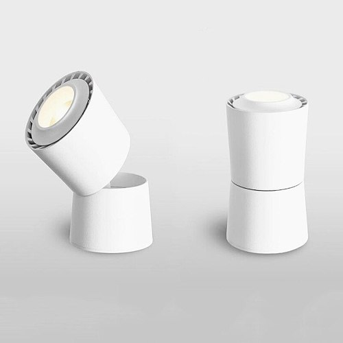 Dimmable Folding Rotation LED Downlights 7W 9W 12W 15W COB LED Ceiling Lamps Spot Lights AC85~265V Track Lights Indoor Lighting