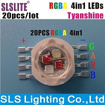 20PCS/LOT RGBY High power LED Lamps led chip RGBA 4 color 4 in 1 TianXin Brand TYANSHINE RGBA 4in1 Chips high light lights