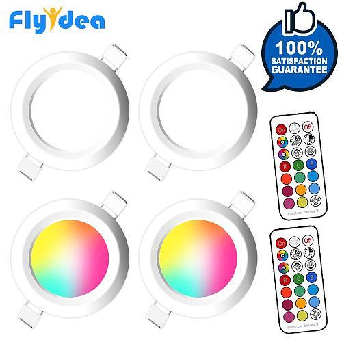 LED Downlight Recessed Round Spot Light 7W Smart Dimming Ceiling Lamp RGB Color Changing Warm Cold White AC 220V 230V 240V 110V