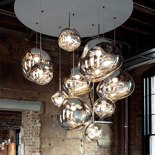 Modern Lava PVC Pendant Lights Vintage Villa Duplex Apartment Lighting Design LED Pendant Lamps for Home Indoor Decor Suspension