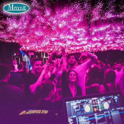 Maykit Music Luminous Cloud Fiber Optic Light with 32W RGBW LED Light Source Fiber Cable For Bar Club Cloud Audio Light