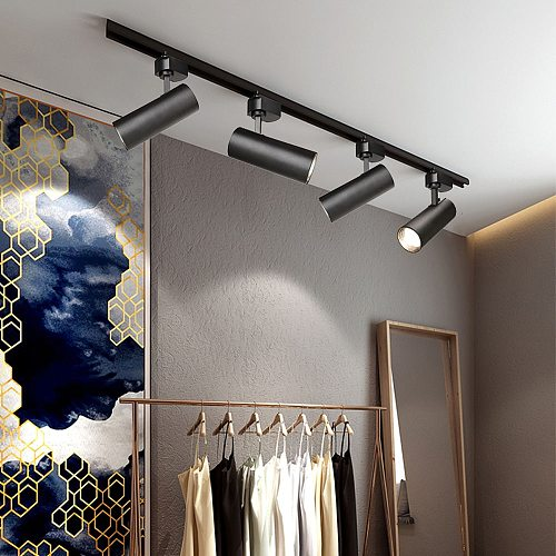 COB LED Track Light 12W 20W 30W Rail Lamp Indoor Lighting Angle Adjustable Spotlight Clothing Store home AC110V AC 220V 240V