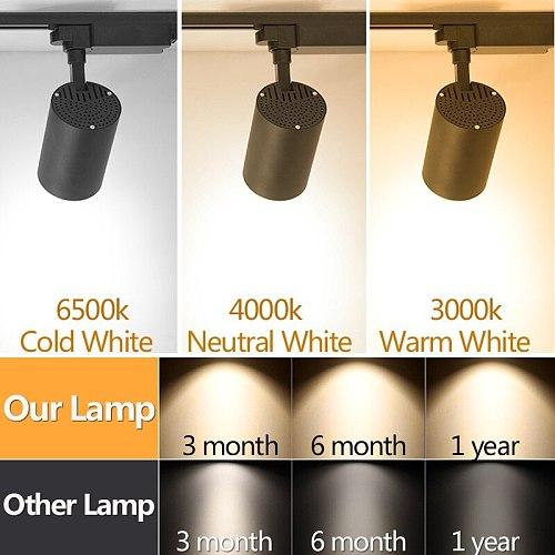 Modern Led Track Light 220v Spots Led Track Lamp 10W 12W 20W 30W 40W Rail Lighting Track Fixtures For Shop Living Room Spotlight