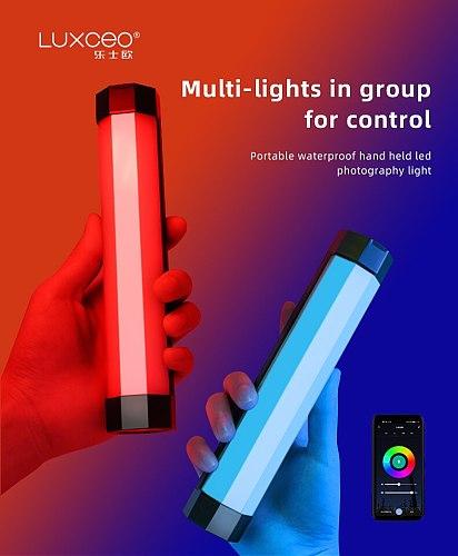 LUXCEO RGB LED Video Fill Light Colorful Handheld Professional Photo LED Flash Light Speedlight Photographic Lighting