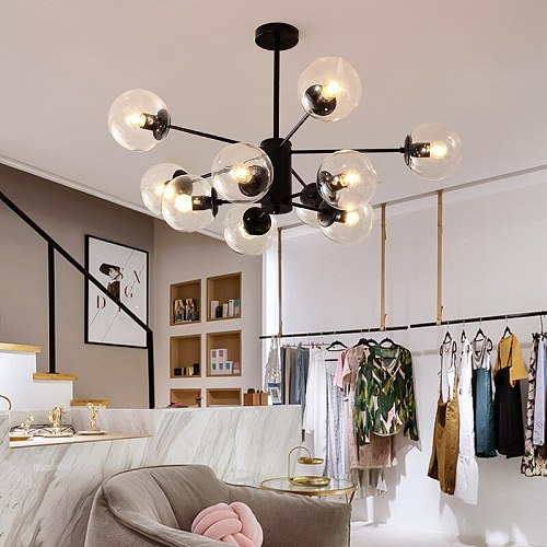 Nordic Pendant Chandelier Lighting Modern Minimalist  Magic Bpersonality Dining Room Bhome Living Room Lamps Lights Fixtures 12W